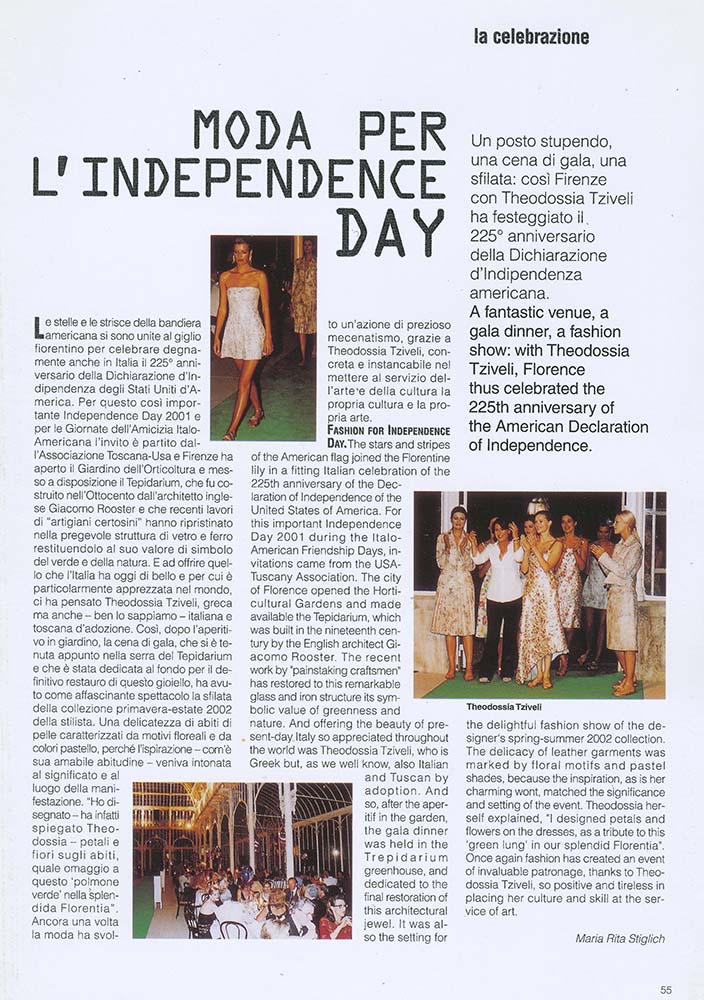 42 MODA PER L'INDEPENDENCE DAY