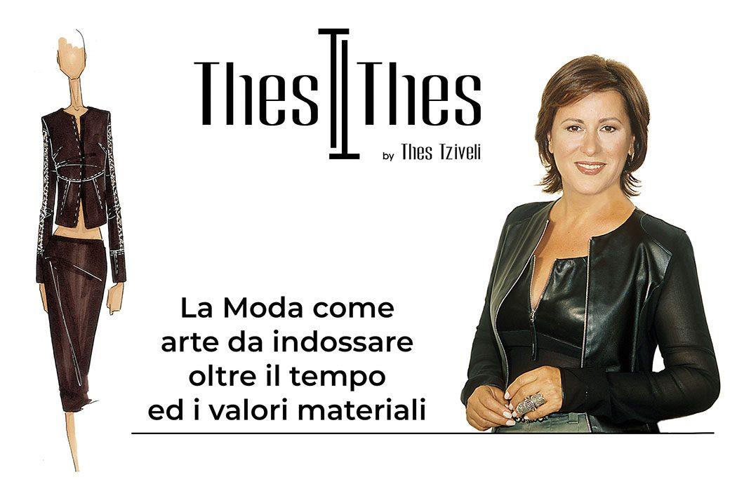 Thes Tziveli, La moda come arte da indossare oltre il tempo e i valori materiali